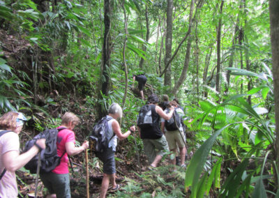 A group of hikers, Hibiscus Valley Inn